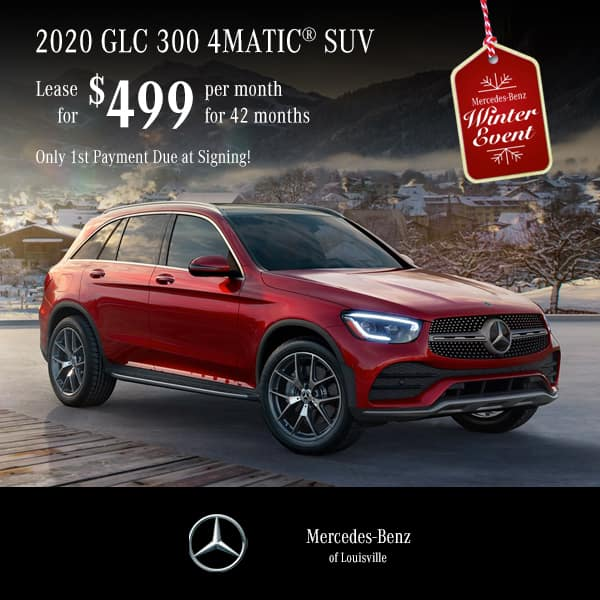 Lease a 2020 GLC 300 4MATIC® SUV ONLY FIRST PAYMENT DUE AT SIGNING!