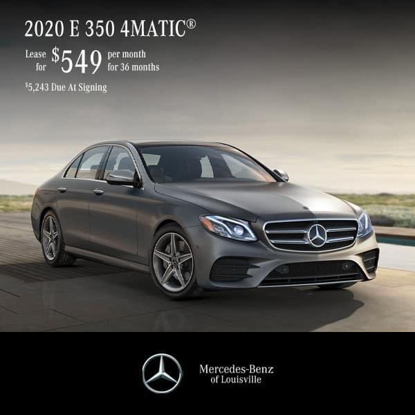 Lease a 2020 E 350 4MATIC® Sedan