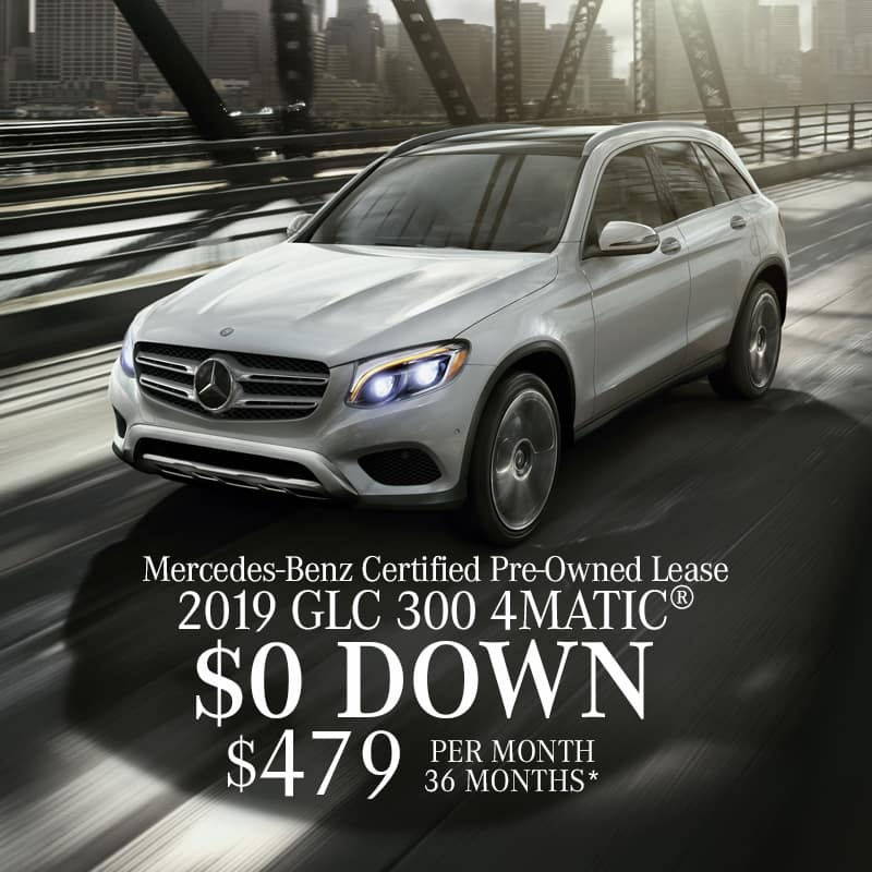 Lease a Certified Pre-Owned 2019 Mercedes-Benz GLC300 4MATIC®