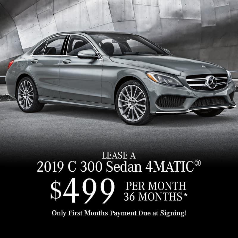 Lease a New 2019 C300 4MATIC® Sedan