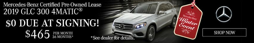 Lease a Certified Pre-Owned 2019 Mercedes-Benz GLC $465 per month