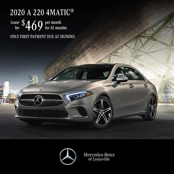 Lease a 2020 A 220 4MATIC® Sedan - ONLY FIRST PAYMENT DUE AT SIGNING!