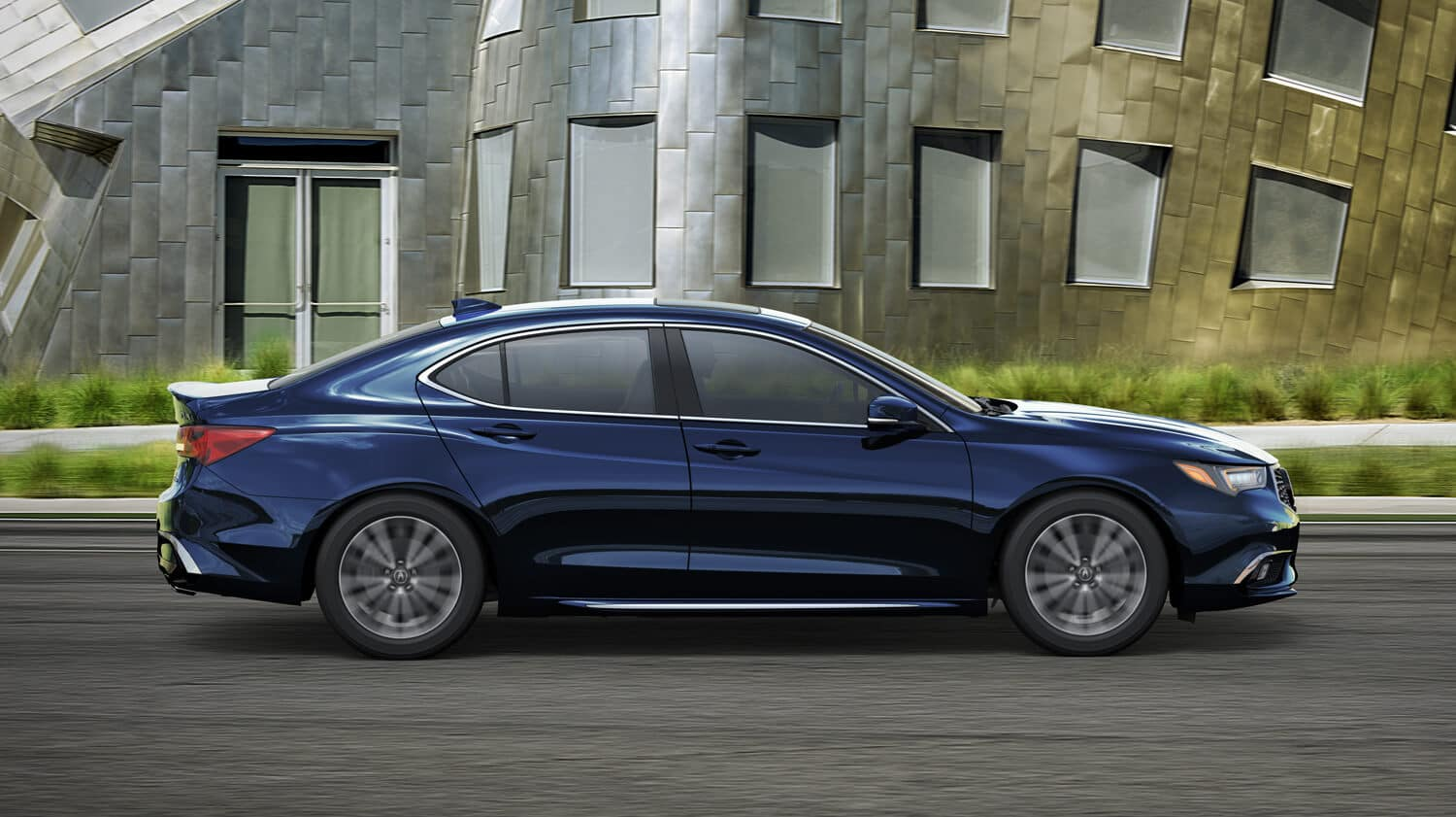 2019 Acura TLX Exterior City Side Profile Blue