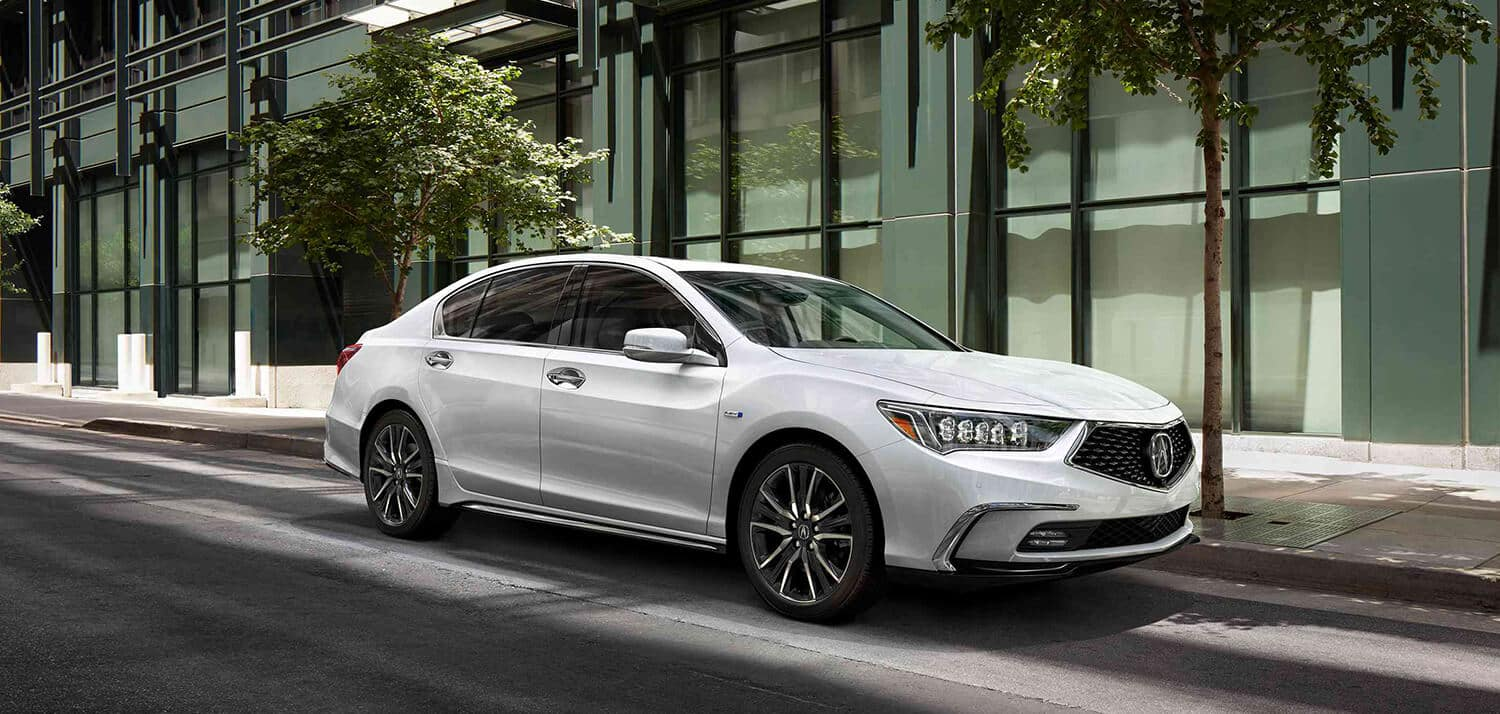 2019 Acura RLX Exterior Front Angle Passenger Side White