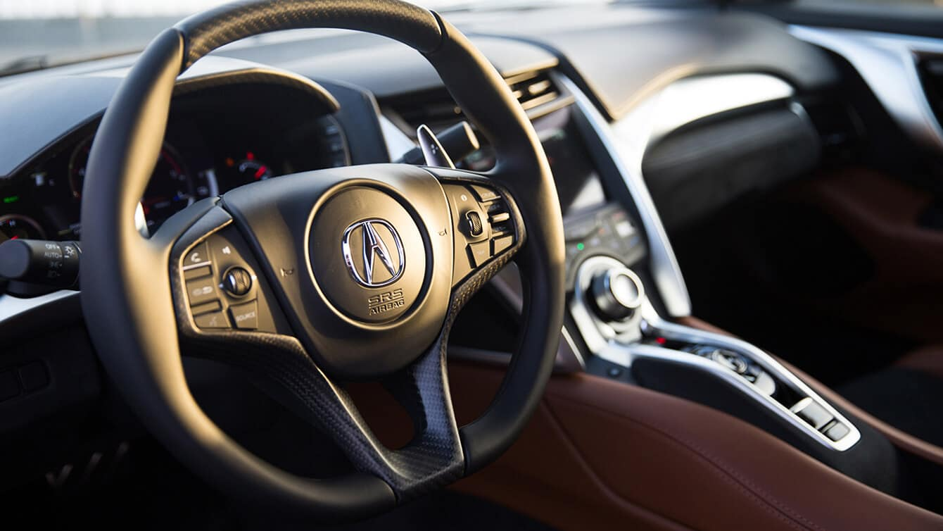 2019 Acura NSX Interior Steering Wheel Closeup