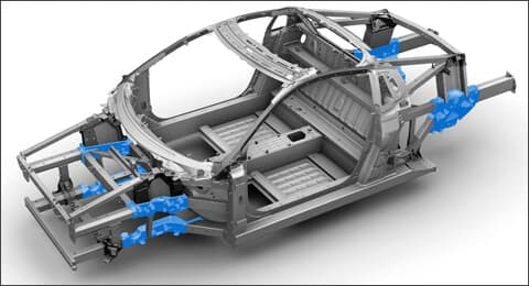 2019 Acura NSX Aluminum Ablation Castings