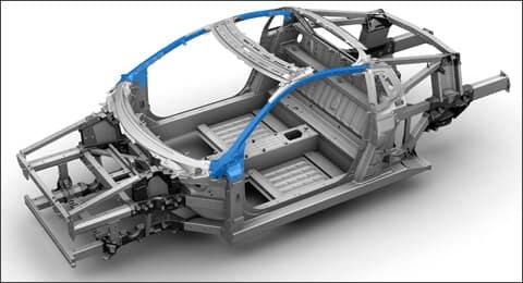 2019 Acura NSX UHS Steel 3DQ A-Pillar