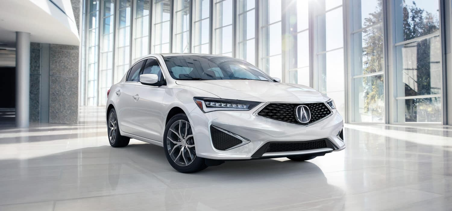2019 Acura ILX Exterior Front Angle Passenger Side White