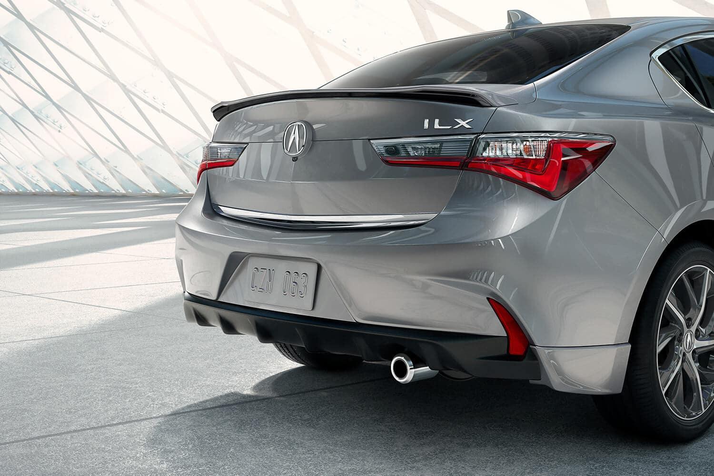 2019 Acura ILX Exterior Rear Angle Closeup Passenger Side
