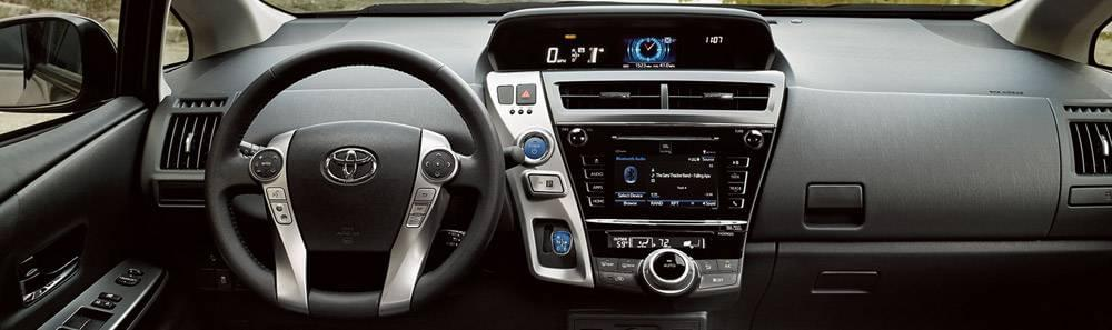 Preview the 2017 Toyota Prius v Interior Features and Design