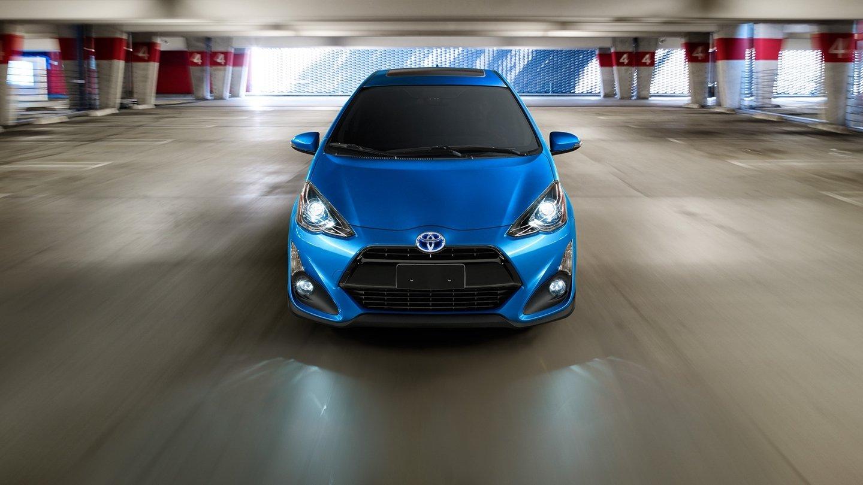 2017 Toyota Prius c in garage