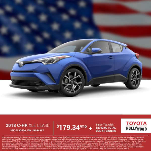 2018 C-HR XLE Lease Special