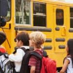 Children at School bus