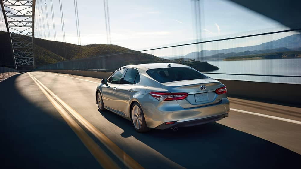 2019 Toyota Camry driving on highway
