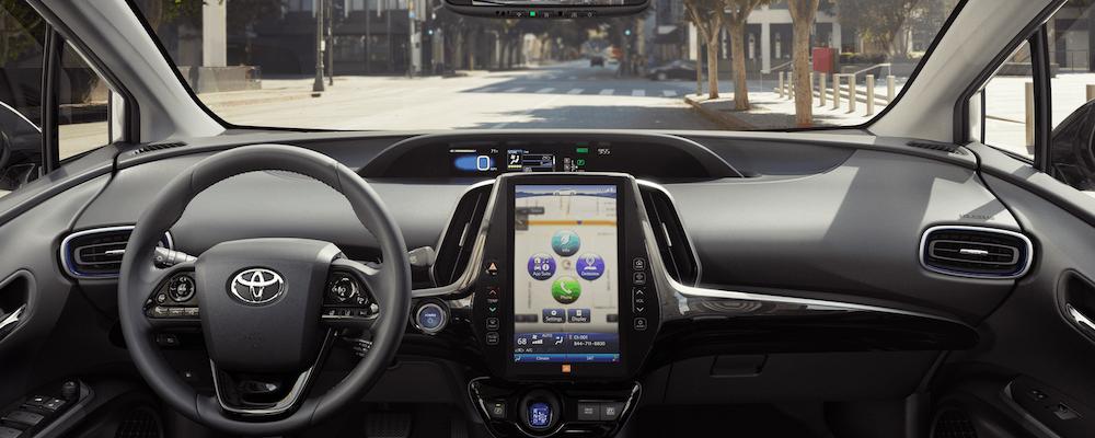 Dashboard View Inside 2019 Toyota Prius