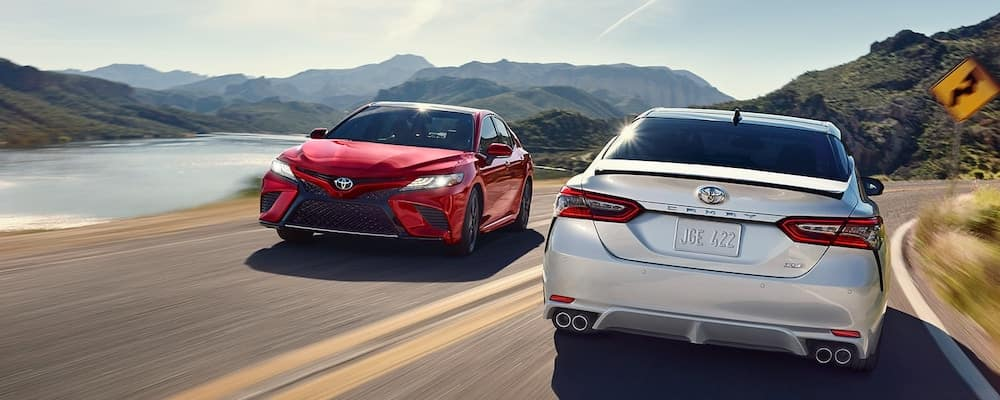 2018 Toyota Camry's Passing Each Other