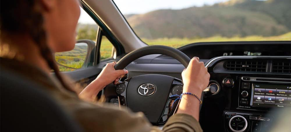 Person driving 2018 Toyota Prius