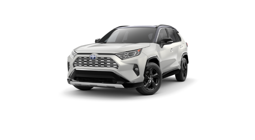 2020 RAV4 XSE Hybrid Blizzard Pearl with Midnight Black Metallic Roof