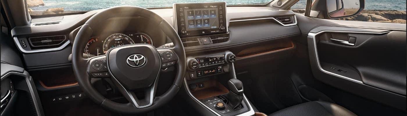 RAV4 interior with Toyota Entune