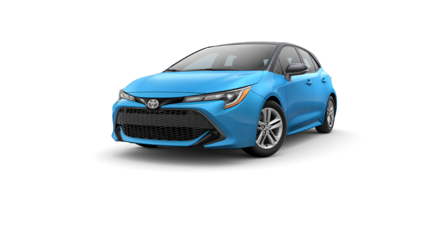 2020 Corolla Hatchback - Blue Flame With Black Roof