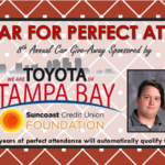 Toyota, Car Giveaway 2018, Tampa Bay, Perfect Attendance, Students, Win A Car