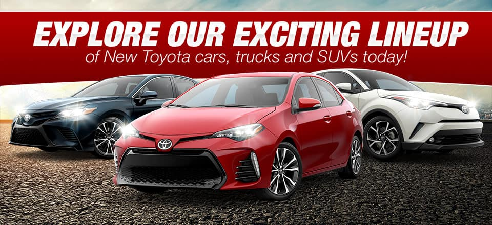 Explore Our Exiciting 2018 Toyota Vehicle Lineup