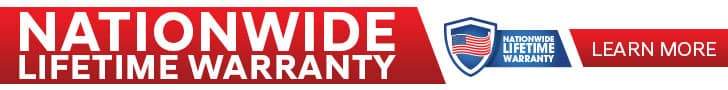Nation Wide Lifetime Warranty Banner
