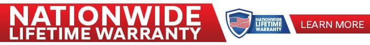 Nation Wide Lifetime Warranty Banner