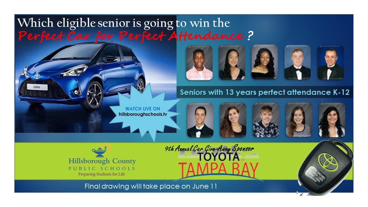 9th Annual Perfect Car for Perfect Attendance Giveaway