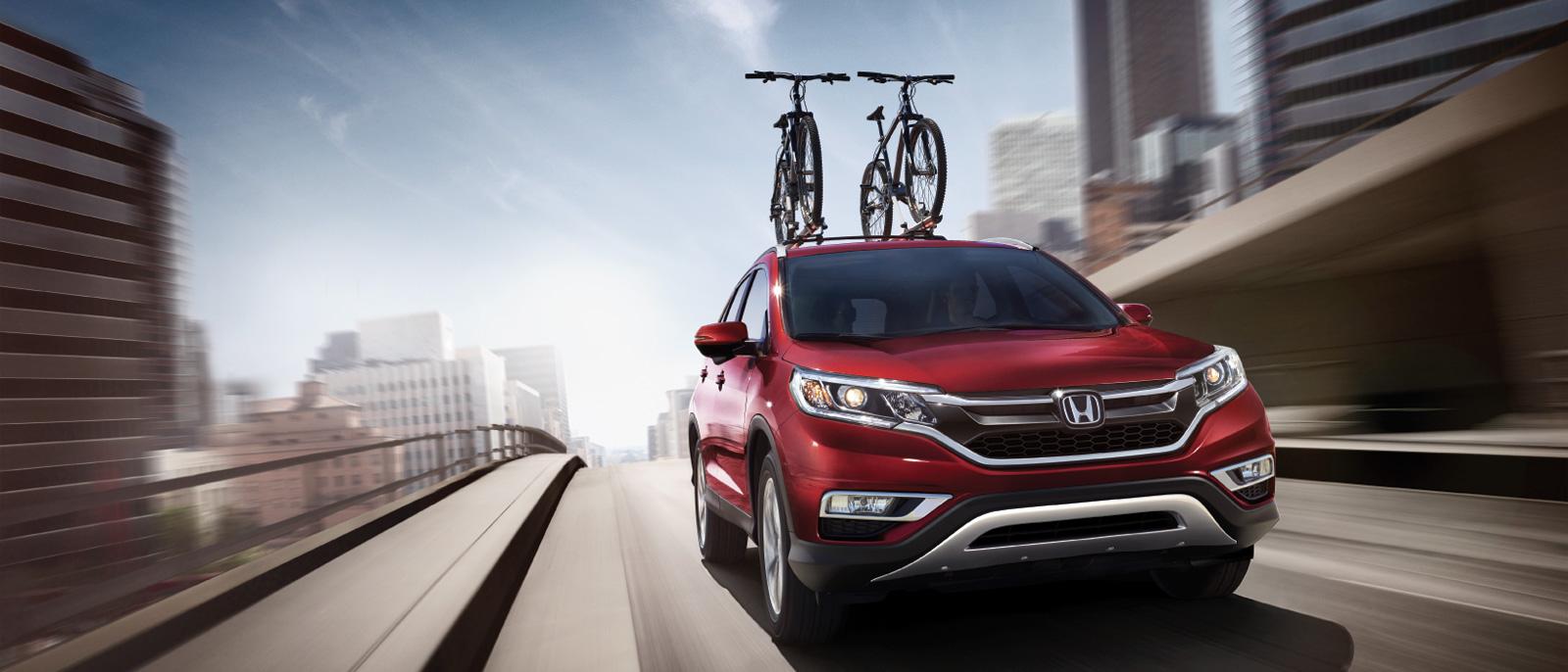 2015 Honda CR-V with optional bike rack