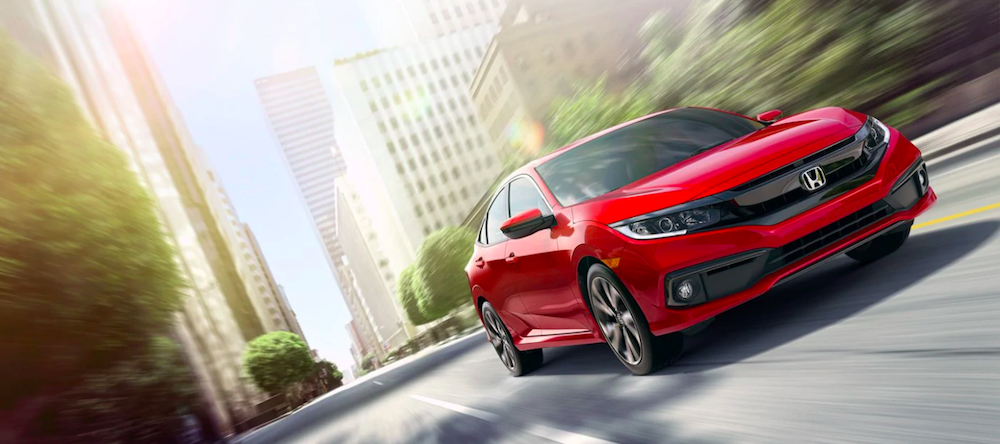 Red 2019 Honda Civic Sedan