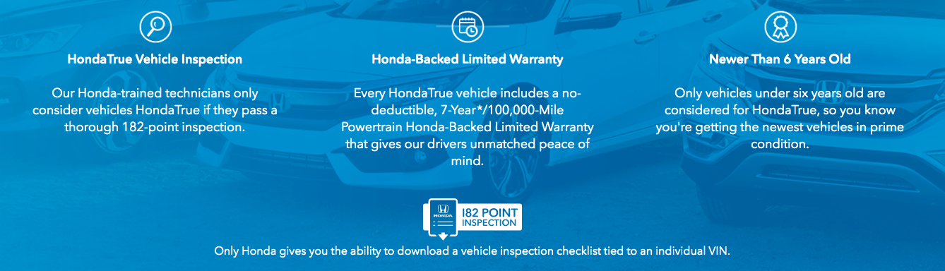 Honda CPO Benefits