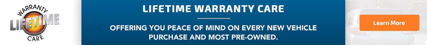 Lifetime Warranty Banner