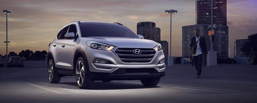 Silver Hyundai in parking lot