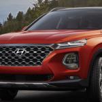 Orange Hyundai Santa Fe 2020