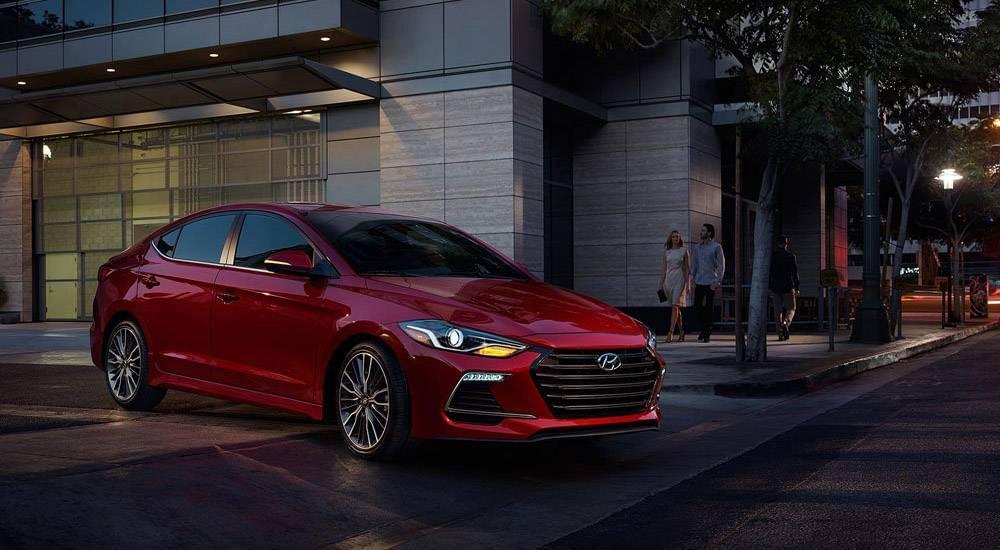 2017 Hyundai Elantra in sport red