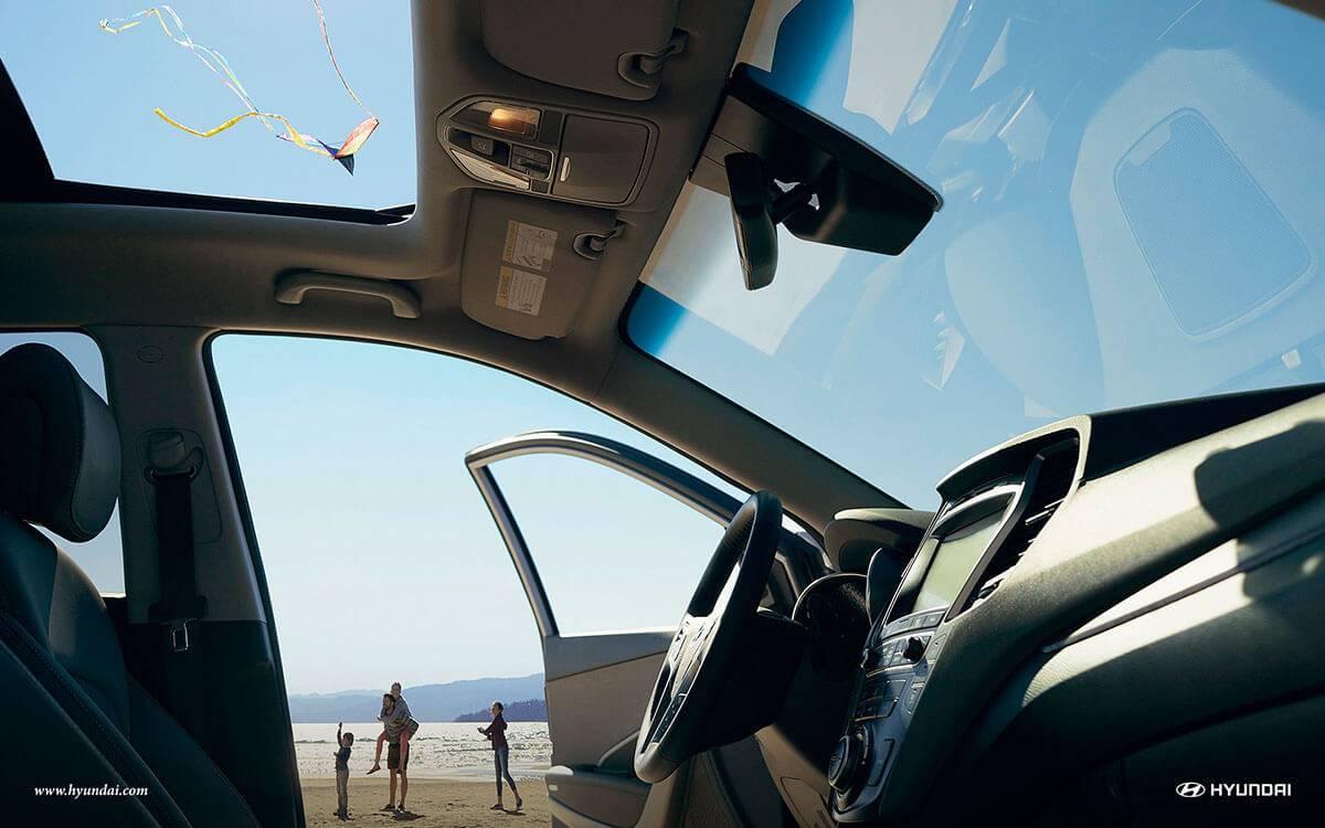 2017 Hyundai Santa Fe sunroof
