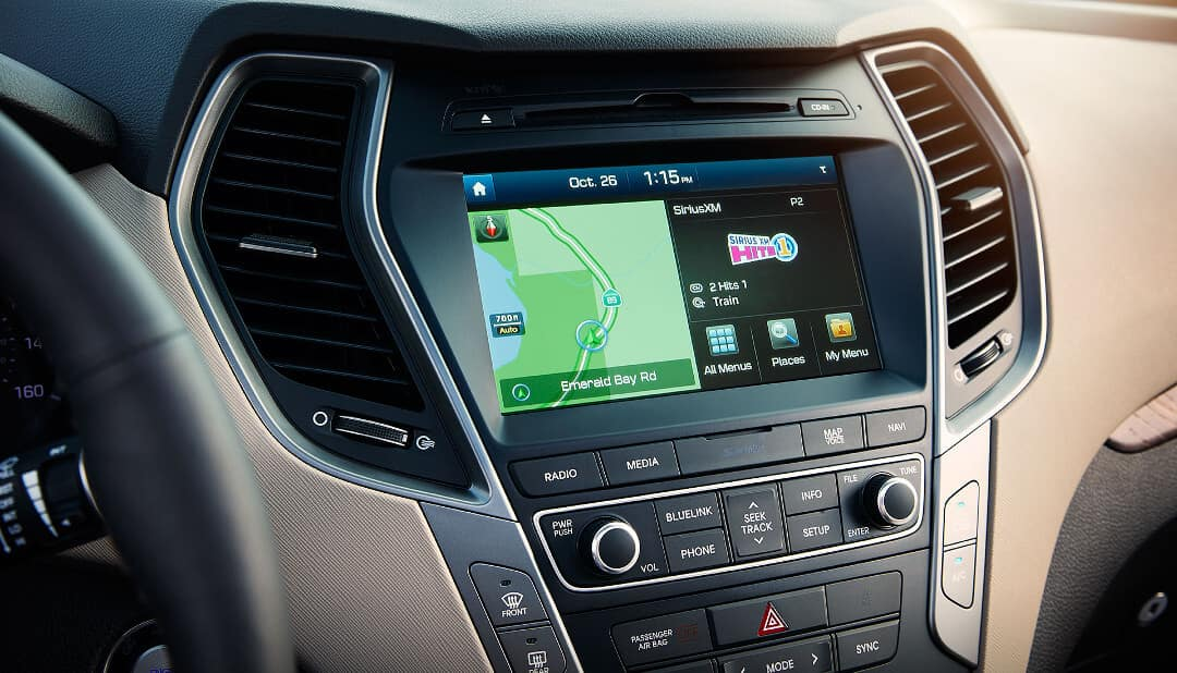 2018 Santa Fe touch screen