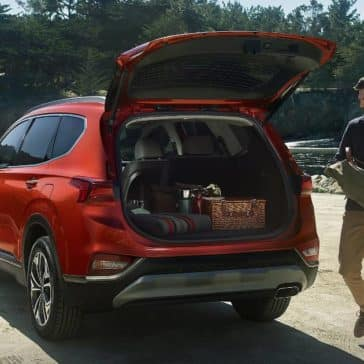 2019 Hyundai Santa Fe lift gate and cargo space