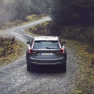 2018 Volvo V90 on winding road