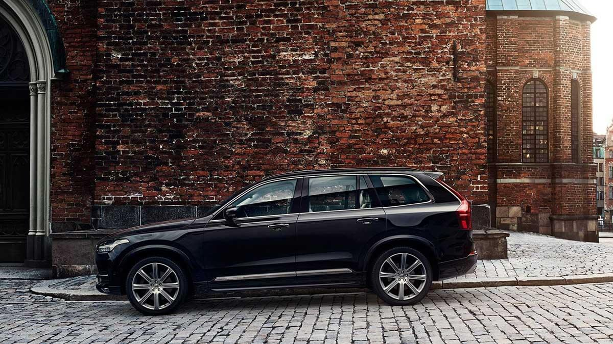 2017 XC90 parked by brick wall