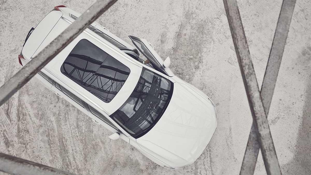 2017 XC90 aerial view