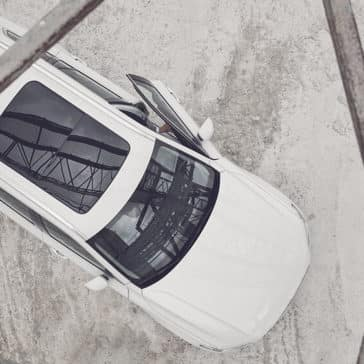2018 Volvo XC90 aerial view