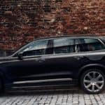 Volvo XC90 SUV in an urban environment, ready to roar off at any moment.