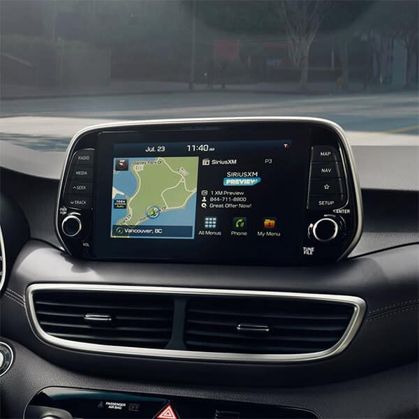 2021 Hyundai Tucson 8-Inch Color Touchscreen