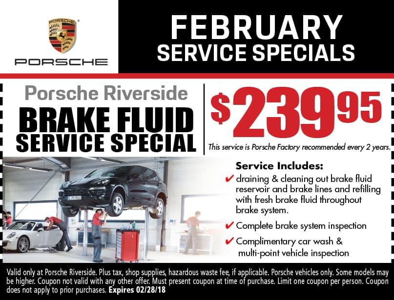 Porsche service specials coupons riverside auto repair brake fluid service special fandeluxe Gallery