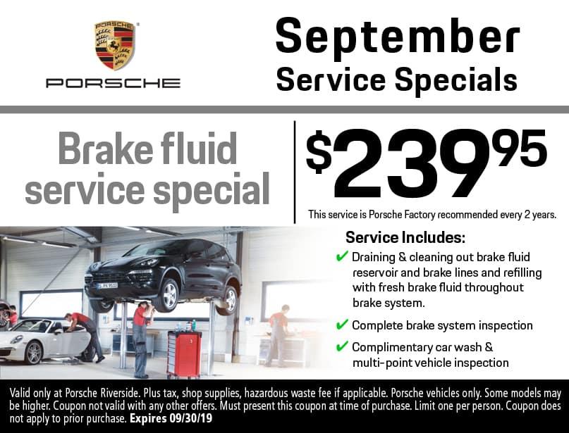 Porsche Service Specials   Porsche Riverside Service Center