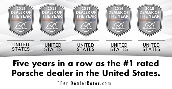 Porsche Riverside DealerRater Awards
