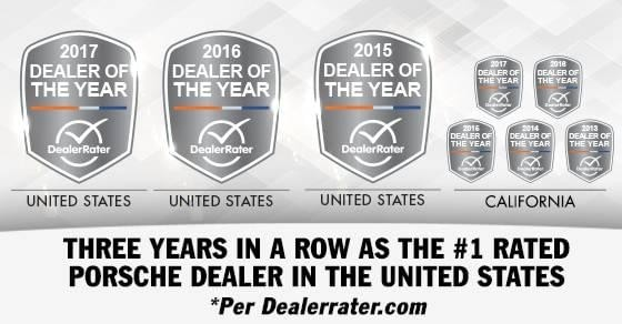 Walter's Porsche DealerRater Dealer of the Year