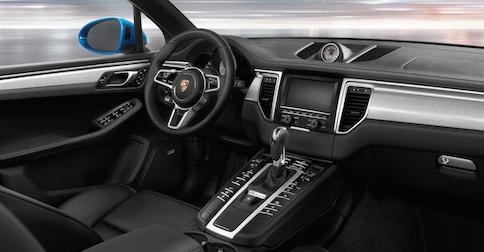 interior of the Porsche Macan